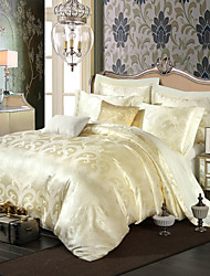Royal Retro Style Cream Jacquard Bedding Set 4-Piece