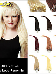 "Indian 18""20""22""24""26""28"" Hair Extensions Human Hair Multiple Colors No Tangle Micro Ring Hair Loop Hair Extensions"