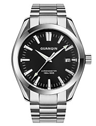 GUANQIN® Top Grade Men Automatic Self-wind Waterproof Sapphire Steel 40mm Business Wrist Watch with Luminous Calendar Cool Watch With Watch Box
