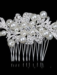 Europe And The United States The Bride Manual Headdress High-Grade Diamond  Pearl  Bridal Comb
