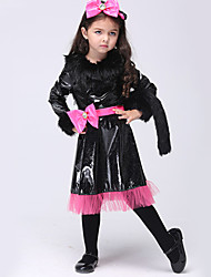 Halloween / Christmas / Carnival / Children's Day Kid Animal Costumes / Bunny Girls Costumes Dress / Belt / Headwear