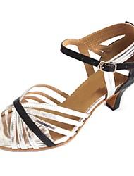 Customized Women's Dance Sandals Customized Heel Latin Salsa Shoes