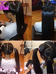 Peruvian Virgin Silky Straight Full Lace Human Hair Wigs Baby Hair Be Ponytail For Africa Americans