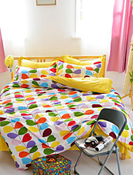 Mingjie® Colorful Leaves Love Blue Queen and Twin Size Sanding Bedding Sets 4pcs for Boys and Girls Bed Linen China