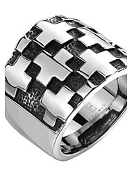 Wall Cross Exaggerated Personality Rock Titanium Steel Stainless Steel Men's Ring Christmas Gifts