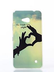 Для Кейс для Nokia С узором Кейс для Задняя крышка Кейс для С сердцем Мягкий TPU Nokia Nokia Lumia 640