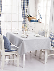 Light Blue Striped Design  Jacquard  Tablecloths Fabric Tea Tablecloth