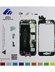 esteira parafuso de guia de reparação técnico almofada magnética para iphone 5