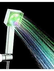 Green ABS LED Color Changing Hand Shower