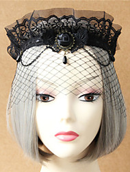 High-grade Lace Veil Crown Retro Exaggerated Masked Gauze Mask