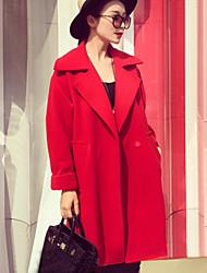 Damen Mantel  -  Leger / Arbeit Langarm Tweed