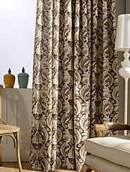 Two Panel Country Vintage Leaf Printed Cotton Energy Saving Curtains Drapes