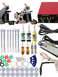 itatoo® professionele en complete mini tattoo kit 2 kanonnen machine sets tattoo ink voeding tattoo naalden
