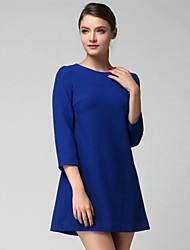 Women's Solid color  Dress (cotton)