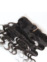 """1 año de garantía remy brasileña virginal del pelo de encaje frontal 13 """"* 2"""" pedazos del pelo onda del cuerpo de encaje frontal 8 """"-20"""""""
