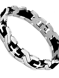 European Style Personality Stainless Steel Bracelet(Black And White)(1Pc)