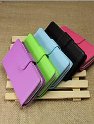 Para Capinha Nokia Carteira / Porta-Cartão / Com Suporte Capinha Corpo Inteiro Capinha Cor Única Rígida Couro PU Nokia Nokia Lumia 620
