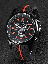 V6® Men's F1 Racing Design Rubber Strap Quartz Casual Watch Cool Watch Unique Watch Fashion Watch