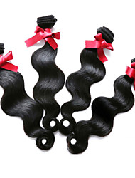 Malaysia Virgin Hair Human Hair Body Wave Hair Weavings 100% Unprocessed 4Pcs/lot #1B Color Body Wave Human Hair Weave