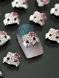 5pcs Kitty Metal Nail Jewelry