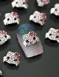 Милый - Стразы для ногтей - 5pcs - 1*0.5 - Металл - Пальцы рук