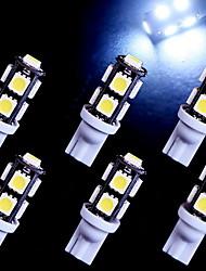 6 pcs super-t10 blanc coin 9-SMD 5050 des ampoules à LED 192 168 194 2 825 158 W5W