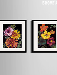 E-HOME® Framed Canvas Art, Bright Flowers Framed Canvas Print One Pcs