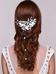 The Bride Headdress Pearl Headdress Flower Flower Ehite Is