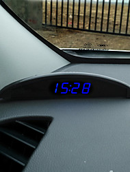 Vehicle Electronic Clock Electronic Clock Car Luminous Temperature Inside And Outside Voltage Meter