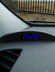 veículo relógio eletrônico relógio eletrônico carro temperatura luminosa dentro e fora do medidor de tensão