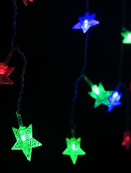 Christmas  Star Curtain Bars Wedding Twinkle Waterfall Decoration Lamps Can Be In Series Waterproof Light 4*0.6M