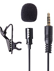 Boya by-LM10 lavalier Microfono a condensatore omnidirezionale per Apple iPhone, iPad, Android e Windows smartphone