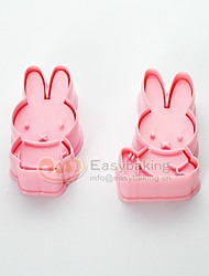 Cute Cartoon Animal 3D Biscuit Mold MIFFY Rabbit Cookie Cutters and Stamps