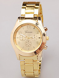 Geneva HFY men's belt watch, quartz watch high-end gold alloy air table