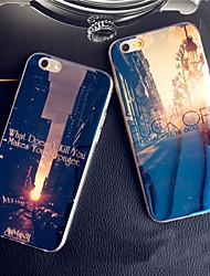 iphone 7 più tramonto all'alba città luce blu riflettente blu-ray caso molle di TPU per iPhone 6S 6 Plus
