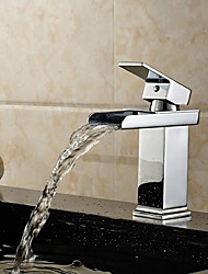 Bathroom Sink Faucet Waterfall Single Handle One Hole Hot And Cold Water