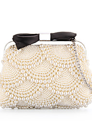 Grace Angel Women's Pearl Beaded Purse Clutch Bag Wedding Shining Lady Evening Bag Bridal Handbags