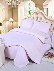 ropa de cama de satén de lujo juego de 4 piezas rosa claro