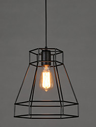 E27 5-15㎡ 28*30CM  Geometrical Line Diamond Wrought Iron Chandelier Pendant Lights LED Modern/Contemporary