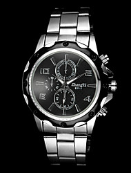 Men's Casual Silver Alloy Quartz Wrist Watch Cool Watch Unique Watch