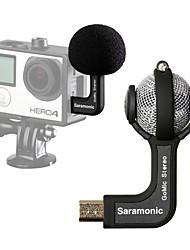 saramonic gomic microfone profissional com som de alta qualidade para gopro hero4 3 + 3 câmeras