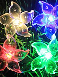 led lampeggiante serie di lampade redbud fiore l5m 3w pvc 50 LED 220v 1,66 mm, tutte le luci della stringa di filo di rame trasparente