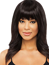 Elegant Natural Straight Human Hair Capless Virgin Remy Mono Top Long Women's Wig