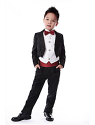 Black / Dark Navy / Red / Fuchsia / Pink Polyester Ring Bearer Suit - 6 Pieces