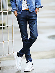 Qiu dong with jeans Male leisure straight men's trousers Han edition men's feet pants men long pants