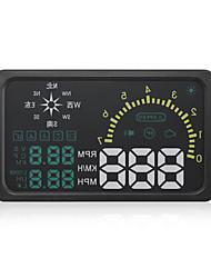 nieuwe 6 '' i6 auto hud head up display km / h mph snelheid waarschuwing obd2-interface met kompas functie