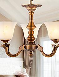 European Style Chandelier Full copper lamp Marble lamps