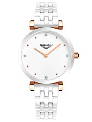 GUANQIN® High-end Luxury Fashion Quartz Watch Ceramic Waterproof Sapphire Crystal Diamond Women Wristwatch Cool Watches Unique Watches With Watch Box