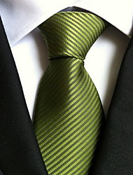 Men Wedding Cocktail Necktie At Work Green Colors Tie