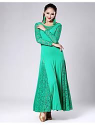 Robes ( Noire / Fuchsia / Vert / Violet / Rouge , Dentelle / Viscose , Danse moderne ) Danse moderne - pour Femme